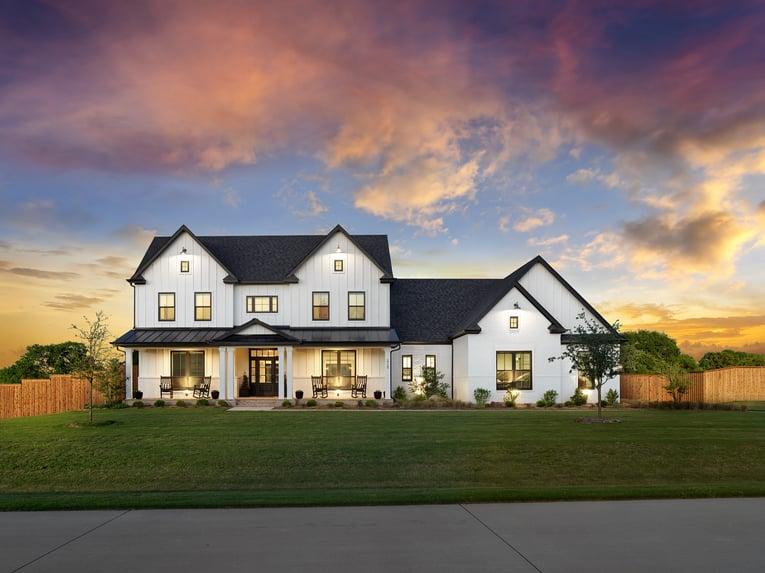 John Houston Homes_Farmhouse Dusk