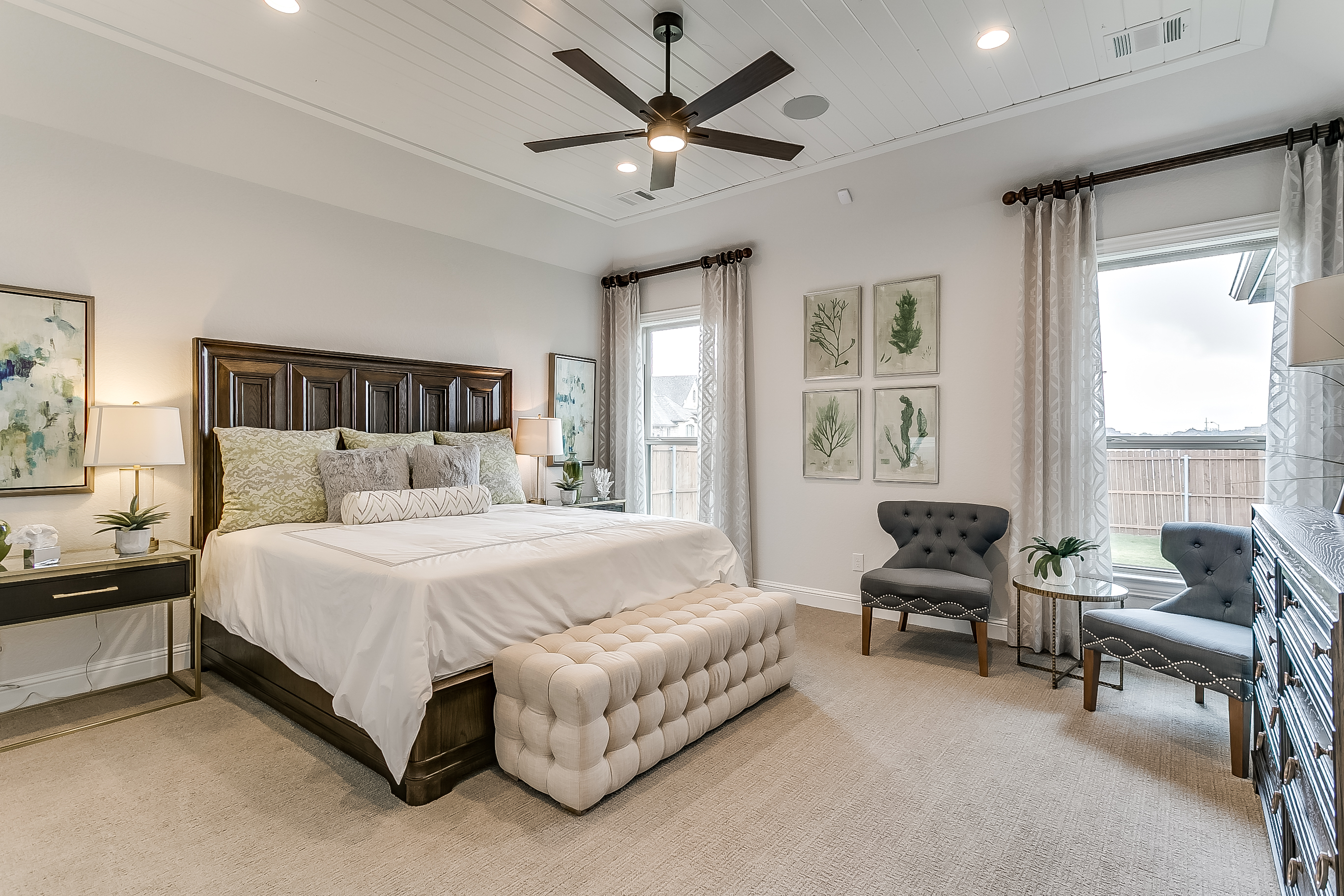 Estates at North Grove, Waxahachie, new homes for sale, waxahachie home builder, ellis county, model home, 3d gallery, 3d home tour, model home photos, master bedroom