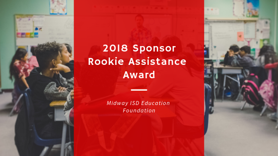 2018 Sponsor Rookie Assistance Award