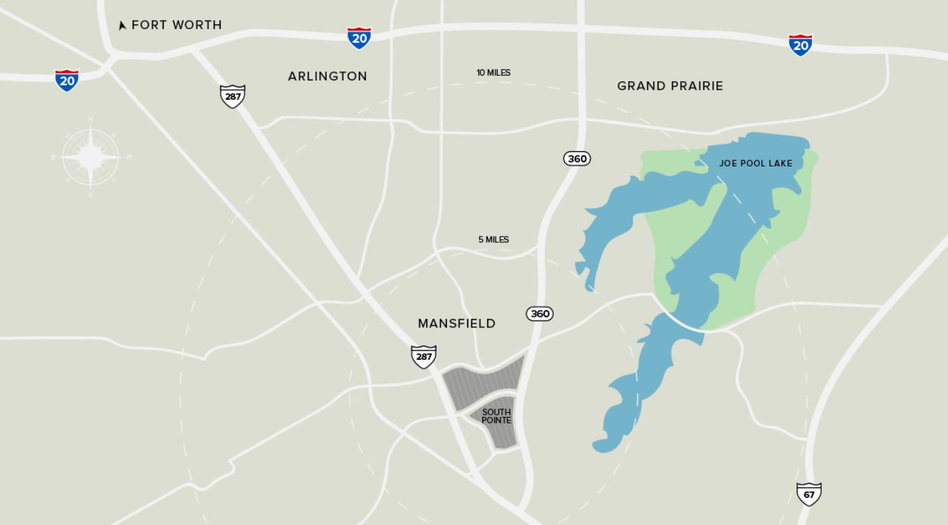 South Pointe Mansfield location, arlington, grand prairie, dallas, fort worth, new community, custom home builder